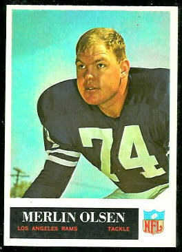 Merlin Olsen 1965 Philadelphia football card