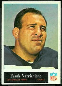 Frank Varrichione 1965 Philadelphia football card