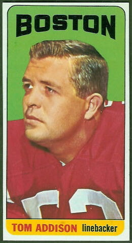 Tommy Addison 1965 Topps football card