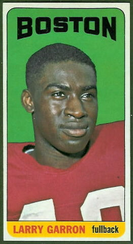 Larry Garron 1965 Topps football card