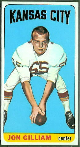 Jon Gilliam 1965 Topps football card