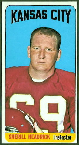 Sherrill Headrick 1965 Topps football card