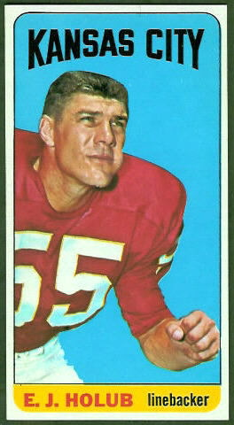 E.J. Holub 1965 Topps football card