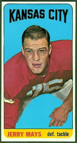 Jerry Mays 1965 Topps football card