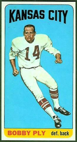 Bobby Ply 1965 Topps football card