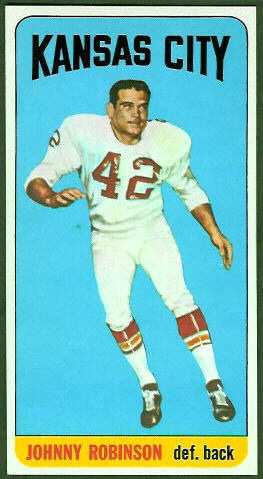Johnny Robinson 1965 Topps football card