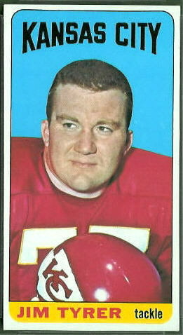 Jim Tyrer 1965 Topps football card