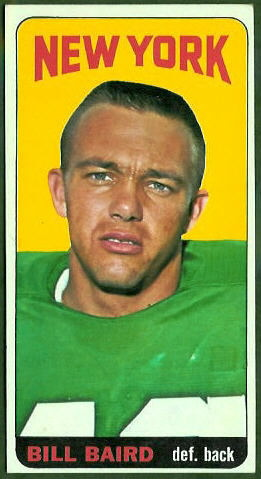 Bill Baird 1965 Topps football card