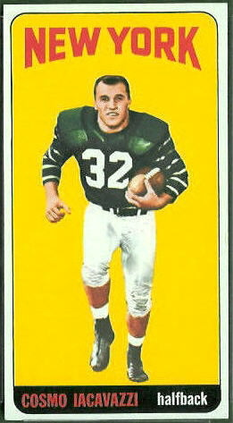 Cosmo Iacavazzi 1965 Topps football card
