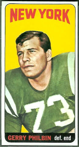 Gerry Philbin 1965 Topps football card