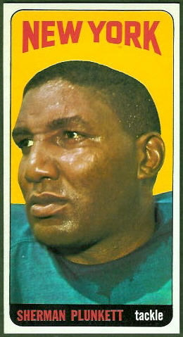 Sherman Plunkett 1965 Topps football card