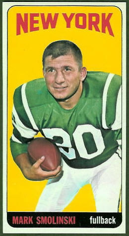 Mark Smolinski 1965 Topps football card