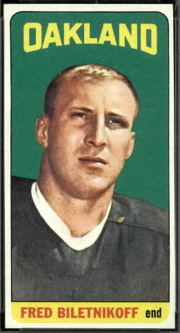 Fred Biletnikoff 1965 Topps football card