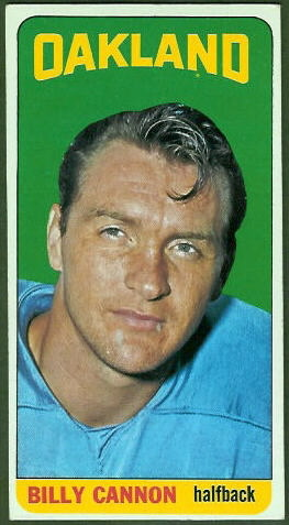 Billy Cannon 1965 Topps football card