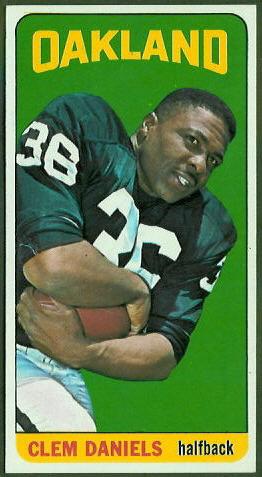 Clem Daniels 1965 Topps football card