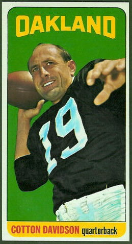 Cotton Davidson 1965 Topps football card