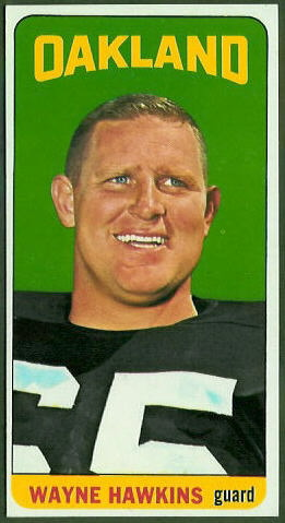 Wayne Hawkins 1965 Topps football card