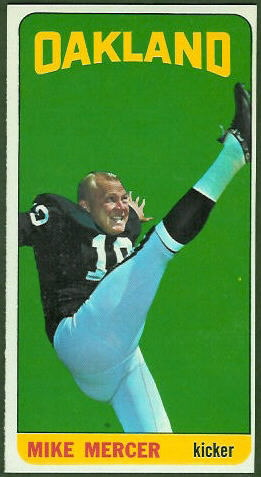 Mike Mercer 1965 Topps football card