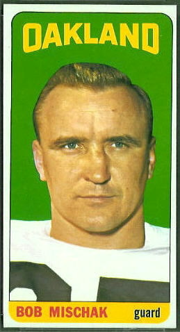 Bob Mischak 1965 Topps football card