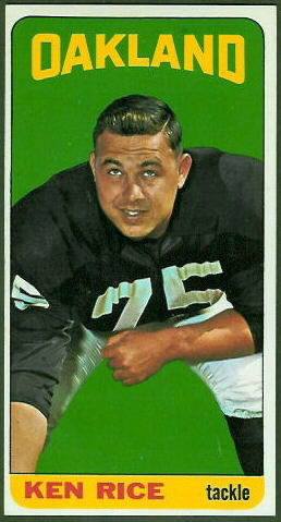 Ken Rice 1965 Topps football card