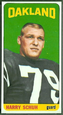 Harry Schuh 1965 Topps football card