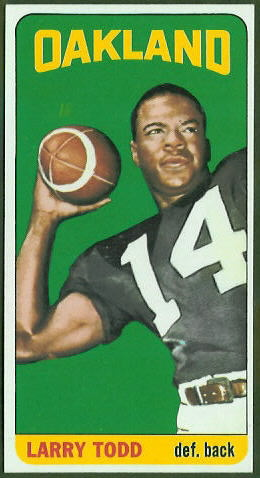 Larry Todd 1965 Topps football card