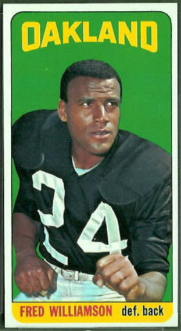 Fred Williamson 1965 Topps football card