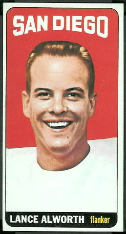 Lance Alworth 1965 Topps football card