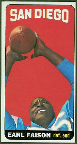Earl Faison 1965 Topps football card