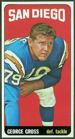 George Gross 1965 Topps football card