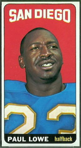 Paul Lowe 1965 Topps football card