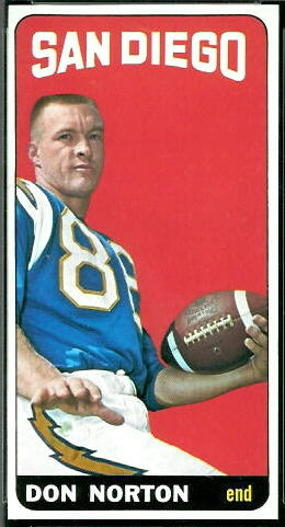 Don Norton 1965 Topps football card