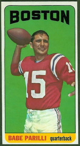 Babe Parilli 1965 Topps football card
