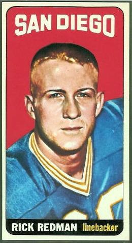 Rick Redman 1965 Topps football card