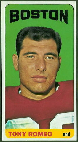 Tony Romeo 1965 Topps football card