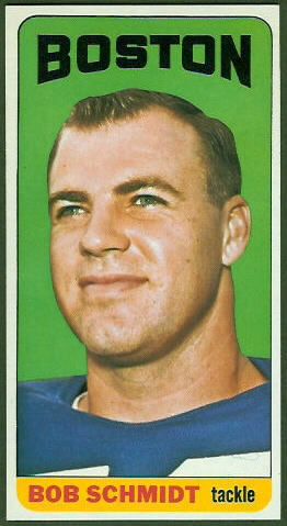 Bob Schmidt 1965 Topps football card