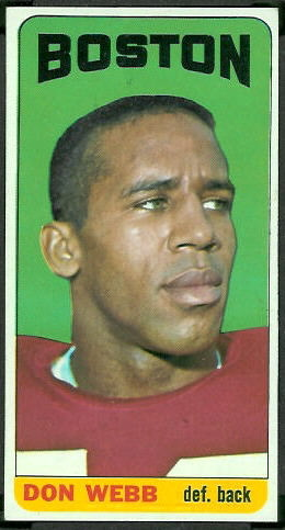 Don Webb 1965 Topps football card