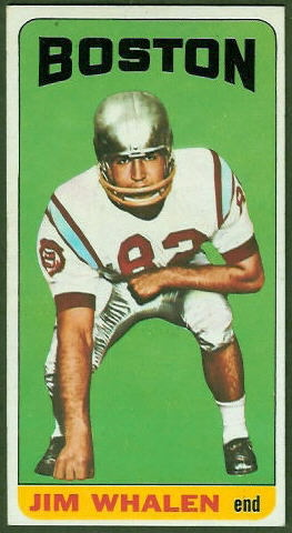 Jim Whalen 1965 Topps football card