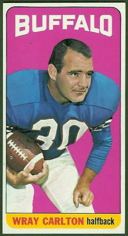 Wray Carlton 1965 Topps football card