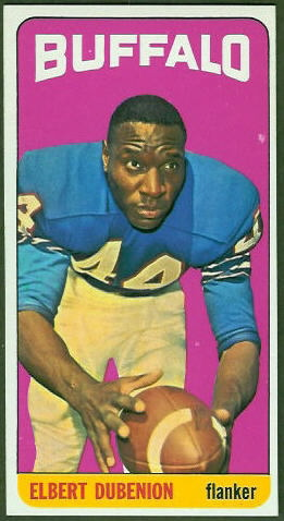Elbert Dubenion 1965 Topps football card