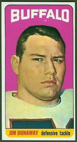 Jim Dunaway 1965 Topps football card