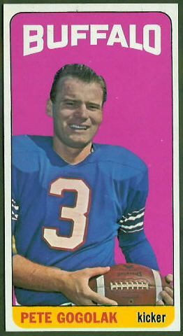Pete Gogolak 1965 Topps football card
