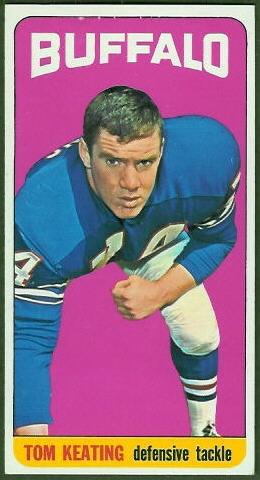 Tom Keating 1965 Topps football card