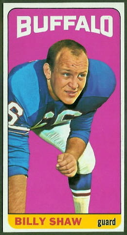 Billy Shaw 1965 Topps football card