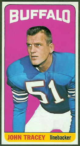 John Tracey 1965 Topps football card