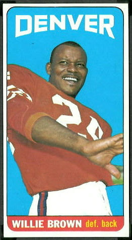 Willie Brown 1965 Topps football card