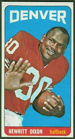 Hewritt Dixon 1965 Topps football card
