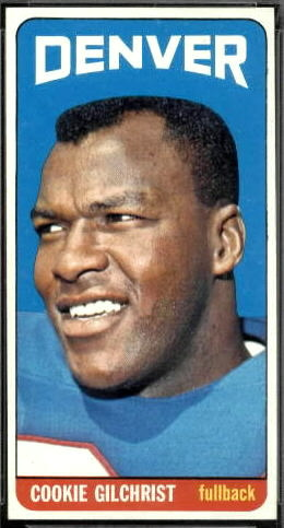 Cookie Gilchrist 1965 Topps football card