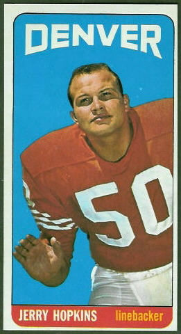 Jerry Hopkins 1965 Topps football card