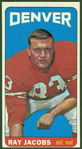 Ray Jacobs 1965 Topps football card